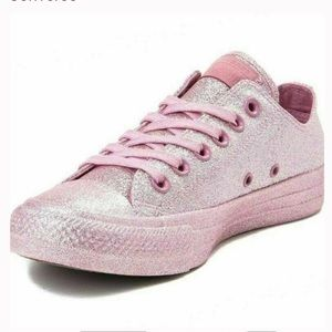 Converse All Star Pink Glitter Sparkle Sneakers